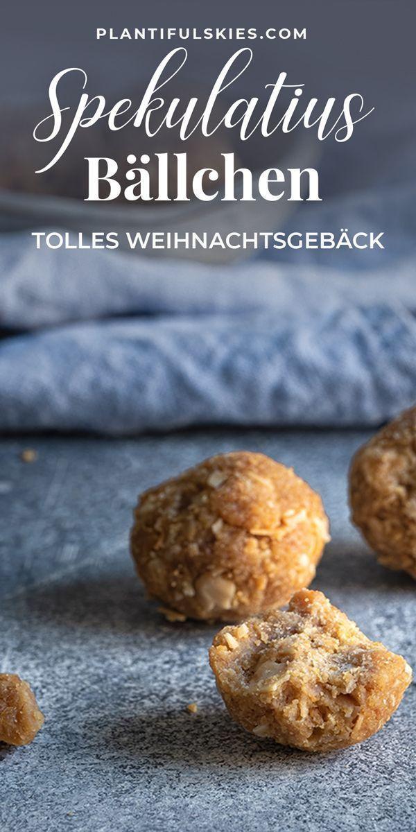 Glutenfreies Weihnachtsgebäck.Mandel Spekulatius Bällchen Recipe Vegane Geschenke Dessert