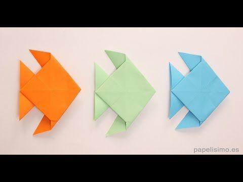 Cómo hacer pez de papel - Origami - Papiroflexia - Muy fácil - YouTube