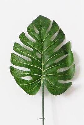 Feuille de Philodendron H 53 cm Tissu pour exterieur D 15 cm superbe du site Artificielles.com.