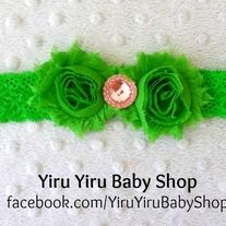 This sweet beautiful lace headband is made with two chiffons matching fabric base with a rhinestone attached to the bottom. It is attached to a stretchy fancy lace headband.  Made from smoke free and pet free environment. *Enjoy the flat rate shipping up to 8 Chiffon Lace Headbands or 5~6 comb...