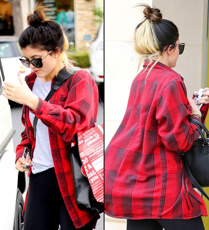 Kylie Jenner Debuts Blonde Streak in Hair - Us Weekly