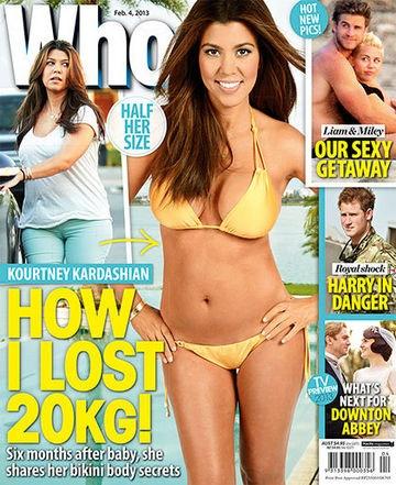 This Week's WHO: Kourtney Kardashian's 20KG Slim Down