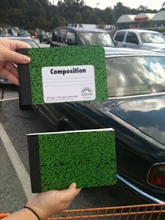 1/2 size composition notebooks