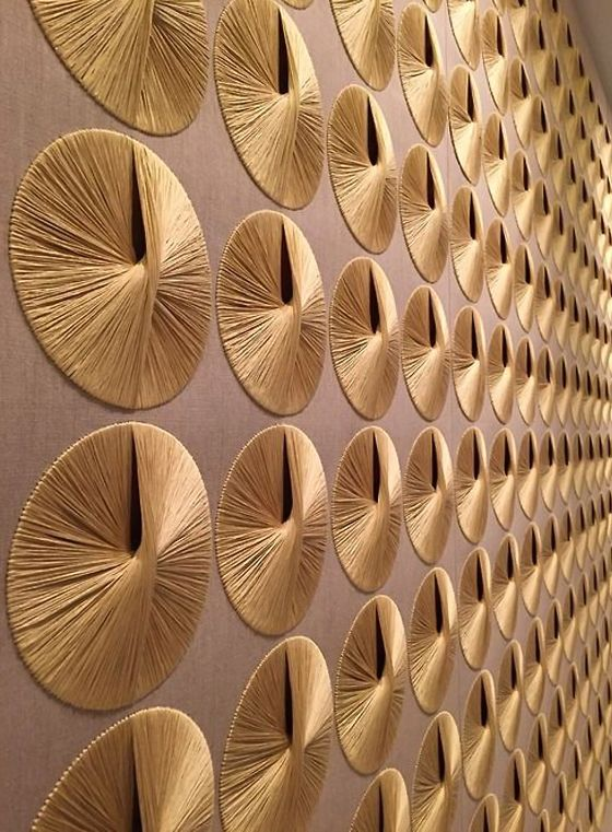 SHEILA HICKS, Untitled, fiber art mural for the Ford Foundation, NY, 1966. Mater…