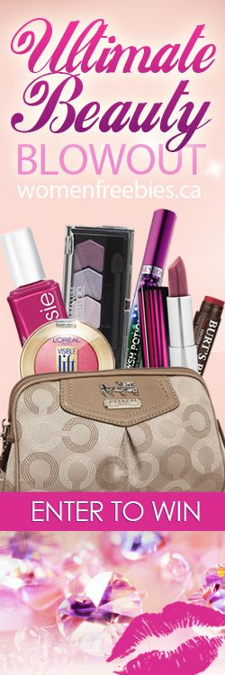 Win a Coach Cosmetic Case Bursting with Beauty Prizes