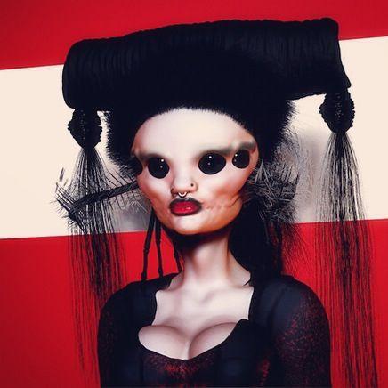 Spider Queen Make-up design