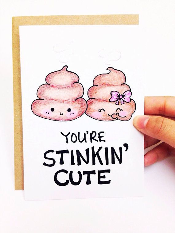 Funny Valentine Card cute valentine card by LoveNCreativity