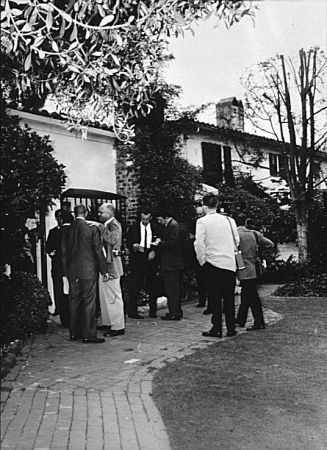 Monroe's house the day after her death 12305 5th Helena Dr. Brentwood CA. 8-5-62