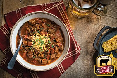 Game Day Steak Chili: Taste the difference. There's Angus. Then there's the Certified Angus Beef ® brand.