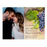 Grapes on Vines Photo Save the Date Card #weddinginspiration #wedding #weddinginvitions #weddingideas #bride