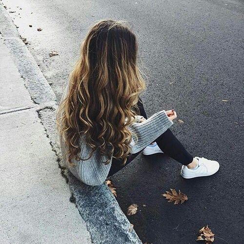 cabello lindo chica