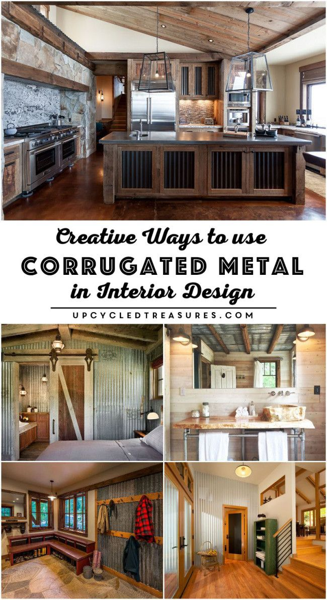 Creative Ways to use Corrugated Metal in Interior Design. UpcycledTreasures.com