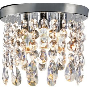 Photos On Buy Inspire Venetia Glass Droplets Light Ceiling Fitting at Argos co uk