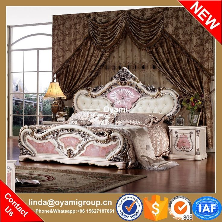 European luxury king size lastest modern bedroom furniture set