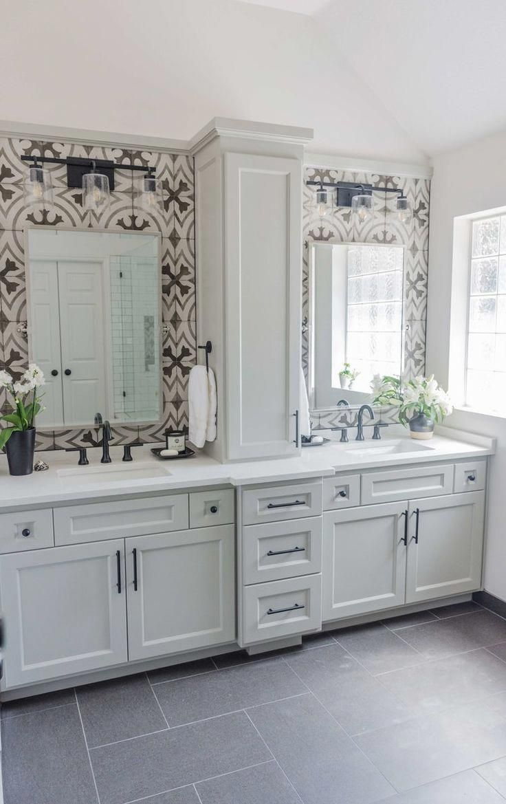 Before and after a dated builder bathroom becomes an eyecatching