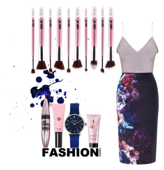 """🌸"" by kleefashion on Polyvore featuring Coast, Maybelline, Yves Saint Laurent, 3 Concept Eyes and Locman"