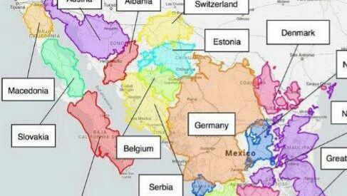 ¿Cuántos países europeos caben en México? -  Una imagen muestra que en el territorio nacional cabrían 24 países europeos    El territorio mexicano abarca una superficie de 1.960.189 kilómetros cuadrados (sin contar sus islas o mares). Es difícil entender qué tan grande es el país tan solo escuchando esa cifra y sin un punto de comparación. Un mapa, que ha sido compartido miles de veces en Facebook y Twitter, desde el 13 de mayo, ayuda a visualizar su tamaño. En él, 24 países europeos están…