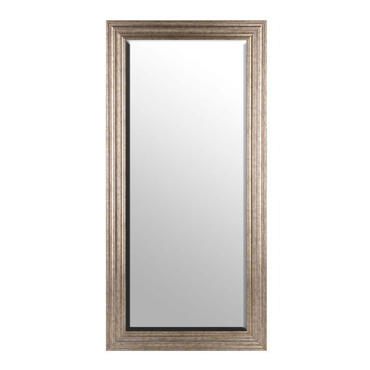 Silver Framed Mirror Bathroom Part - 18: Antiqued Silver Framed Mirror, 32x65 In