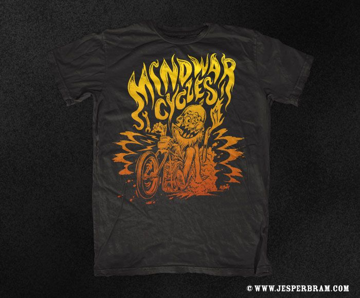 T-shirt design for Mindwar Cycles, Germany