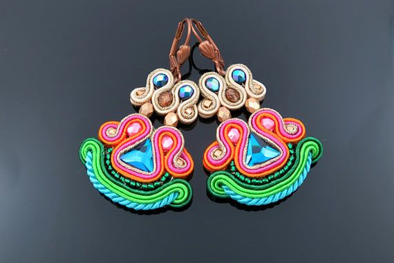 Check out this item in my Etsy shop https://www.etsy.com/listing/490182648/soutache-earrings-with-swarovski