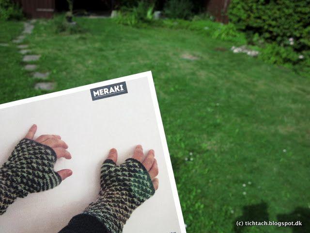 Meraki #pattern - knitted, #fingerless #gloves #tichtach