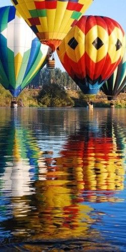 Hot Air Balloon ride: has not always been on my bucket list but it's beautiful and looks like it would be fun.