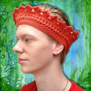 Willem de Eerste, haken, kroon, patroon, crochet, crown, pattern.