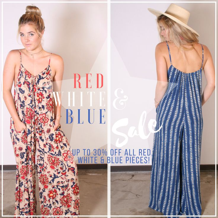 It's that time of year…RED, WHITE, & BLUE Sale! We're celebrating this Independence Day with up to 35% off everything red, white, and blue! Make sure you have the perfect outfit for those 4th of July BBQs!! Shop now…these prices won't last long!  #TYSA #TYSASALE #FourthofJuly #FourthofJulySale #Sale #RedWhiteBlue #IndependenceDay #America #USA #Dresses #Jumpsuits #Playsuits #wrappant #dress #madeinUSA #madeinCA #MadeinLA #losangeles #malibu #fashion #bohostyle #womensfashion #ootd
