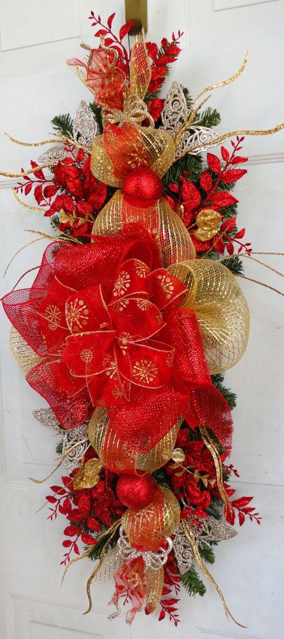 Decoración fiesta de Navidad botín manto y por SparkleWithStyle                                                                                                                                                     Más