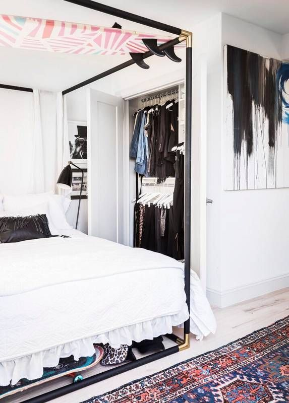 tiny closet and bedroom inspo