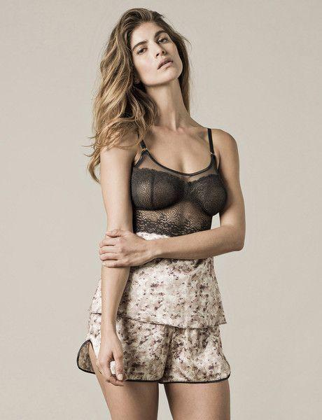 Paris Print Shorts : Luxury Sleepwear