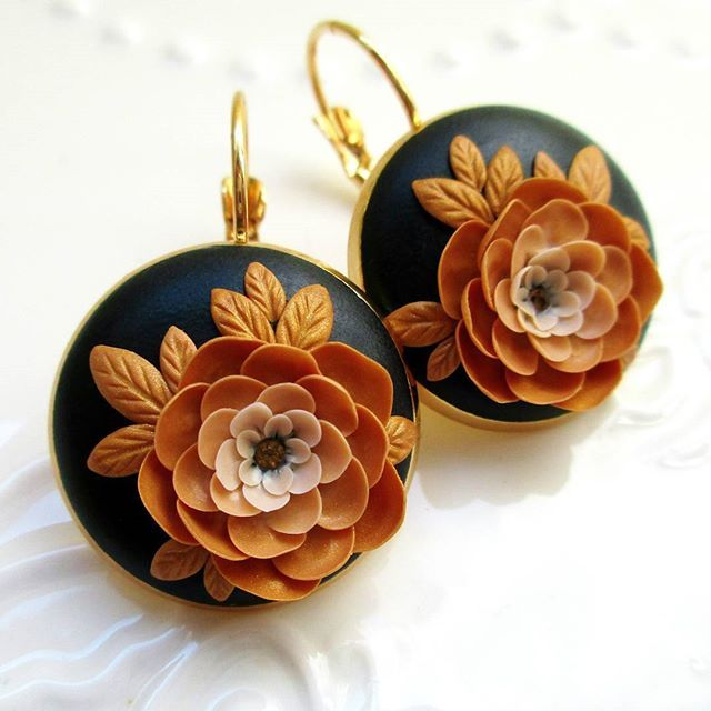 What do you think about story of one Flower?  Every petal is unique and handmade from polymer clay.  You can purchase it in my Etsy shop (link is in my bio)...  . . . . . . #blackandgold #goldearrings #floraljewelry #flowerjewelry #rose #roses #rosegold #bohojewelry #bohemianstyle #bohemianjewelry #artlover #artworks #handmadejewelry #shophandmade #supporthandmade #handsandhustle #creativelife #makersvillage #makersgonnamake #makersmovement #mycreativebiz #shoppingday #shoppingaddic...