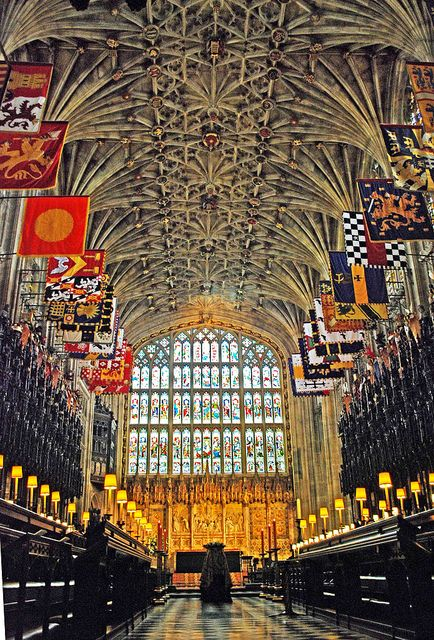 Inside Windsor Castle | Inside St George's Chapel - Windsor Castle | Flickr - Photo Sharing!