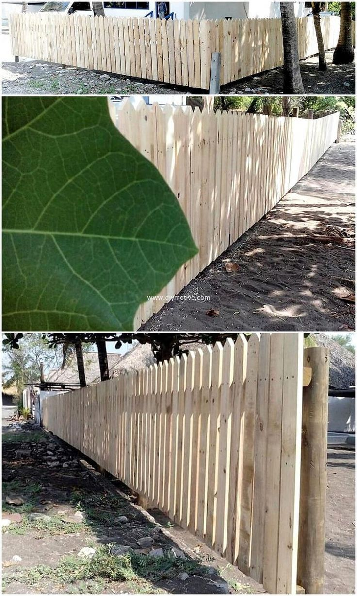 wooden pallet patio fence
