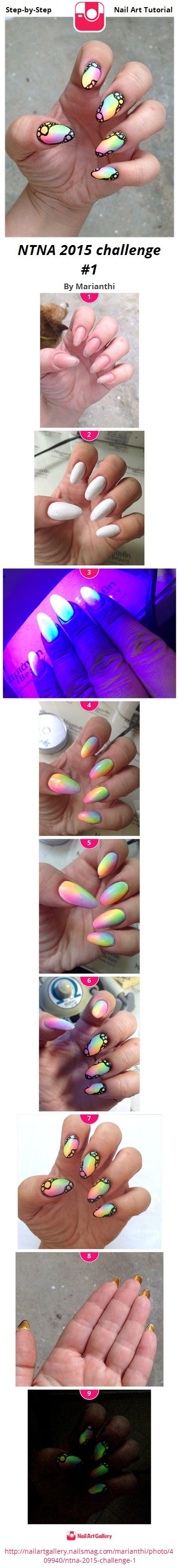 NTNA 2015 challenge #1 - Nail Art Gallery Step-by-Step Tutorial Photos