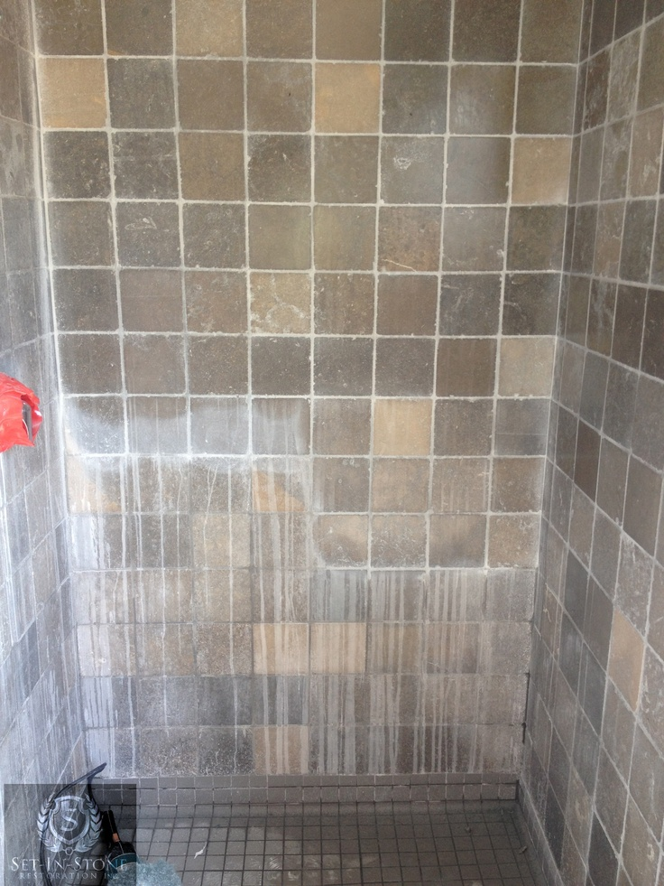 Shower Wall Has Been 50 Restored Years Of Soap Scum And