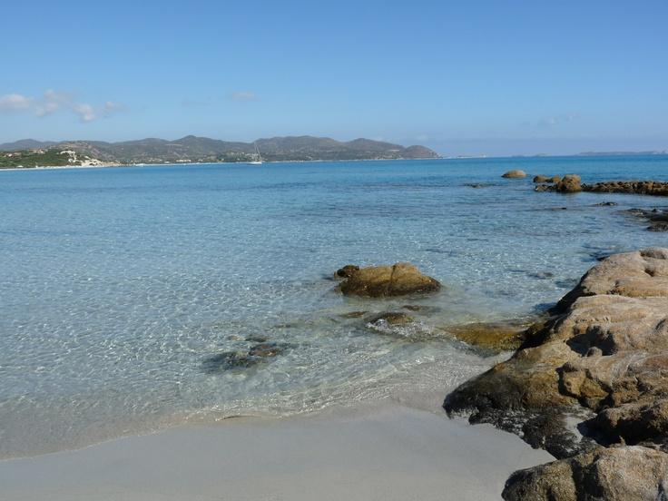Beach Villasimius, Sardinia, Italy