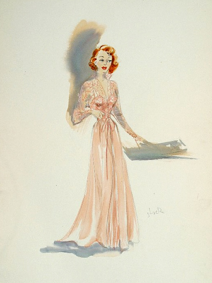 Edith Head sketch for Polly Bergen in That's My Boy (1951)