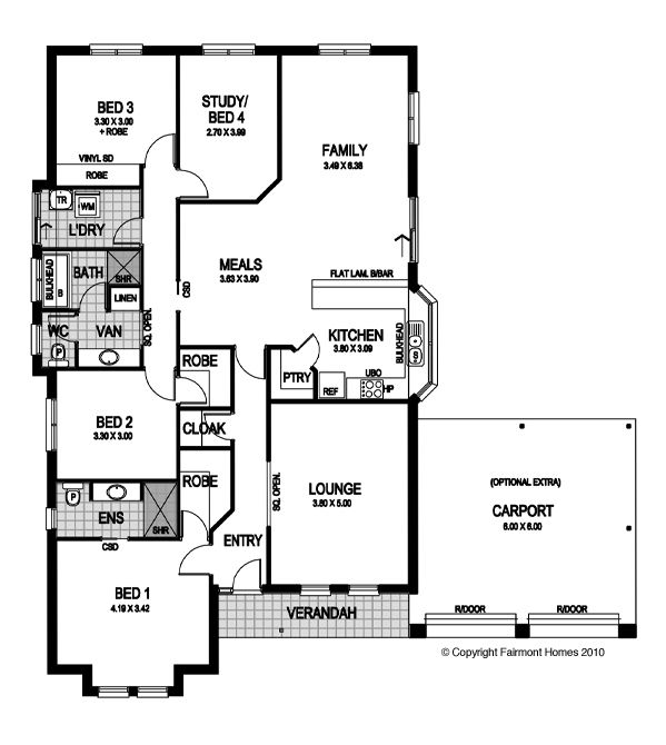 26 best house plans images on pinterest blueprints for homes floor plan malvernweather Choice Image