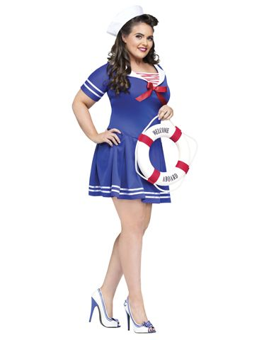 anchors away adult plus size womens costume - Best Halloween Costume Ideas For Women