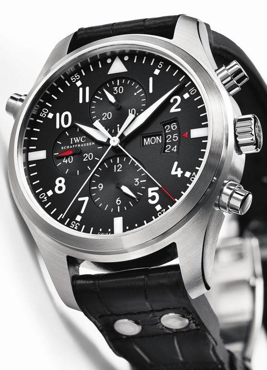 IWC montre d'aviateur double chronographe  http://www.maier.fr/montres-prestige/montres-iwc/montres-hommes-femmes/Aviateur%20Classic,IW377701
