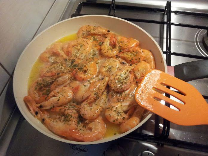 Sauteed shrimps