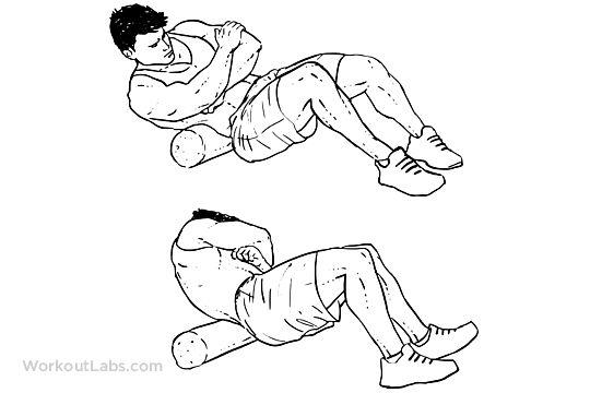 Foam Roller Lower Back Stretch
