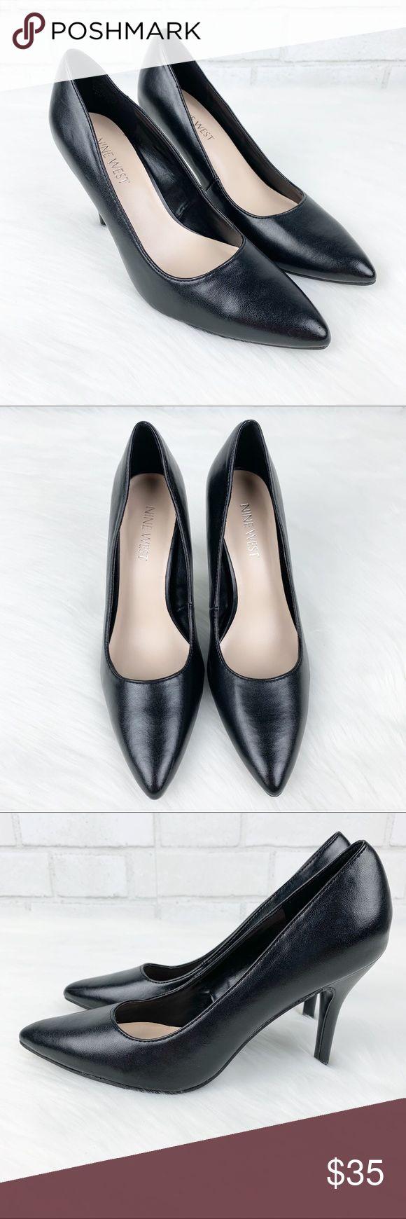 Neun West Schuhe | Nine West Black High Heels mit spitzen Zehen 5.5 | Farbe: Schwarz | Größe: 5.5