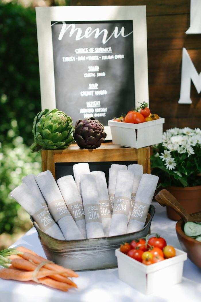 Awesome Graduation Party Dinner Ideas Part - 14: Find This Pin And More On Rustic Graduation Party Ideas With Grad  Decoration Ideas