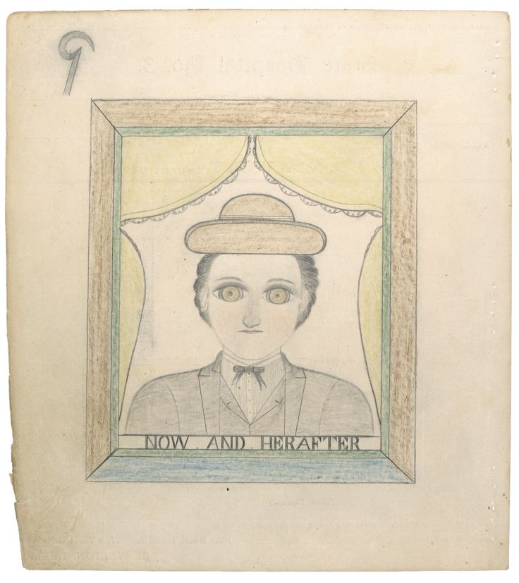 """James Edward Deeds Jr., (aka Electric Pencil)), 1917-1987, """"Now and Hearafter""""."""