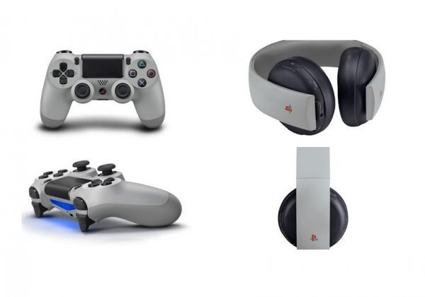 20th Anniversary PlayStation Gold Wireless Headset + 20th Anniversary DualShock 4 Controller
