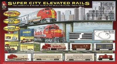 Super City Elevated Rails -- Model Train Set -- HO Scale