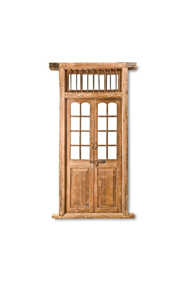 Stunning indian antique wooden door with glass windows fama design corp