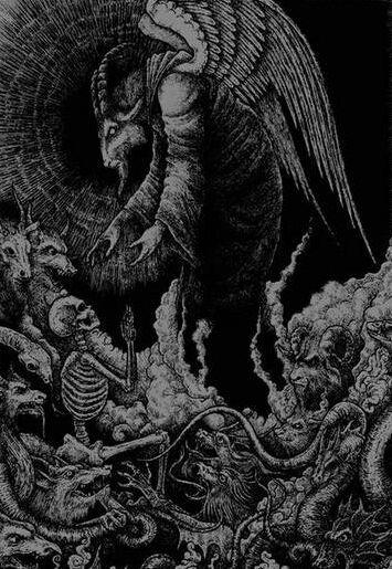 Black and White satanism Macabre satanic baphomet dark art belial belzebub beliar